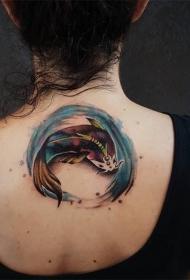 纹身锦鲤图案   色彩绚丽的锦鲤纹身图案
