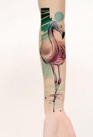 一组好看的水彩纹身图案欣赏