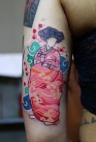 强烈个人特色的彩绘纹身图案