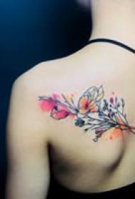 一组彩绘唯美纹身图案欣赏