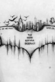一组暗黑点刺小纹身图案