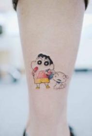 小坏小坏的蜡笔小新纹身图案
