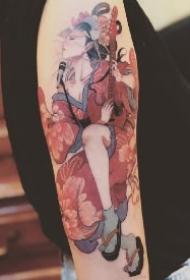 传统的18款艺伎纹身作品图案
