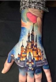 迪士尼童话梦幻炫彩写实纹身作品 圆你一个童话梦