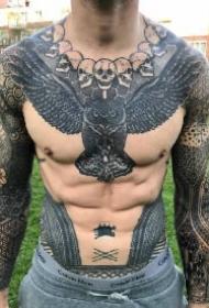 霸气部落混搭点传统风格的9款纹身作品
