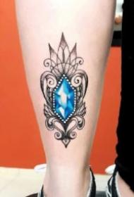 钻石纹身 9款钻石主题的纹身作品图案
