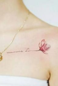 女生锁骨小清新的9款纹身作品
