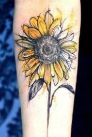 向日葵主题的15款花卉纹身图案