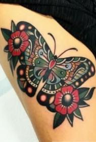 school风格的一组蝴蝶纹身赏析