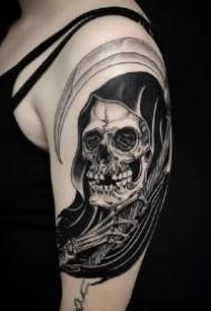 死神纹身主题的14款骷髅死神创意纹身作品