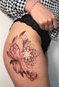 女生大腿侧部漂亮性感的8款纹身作品