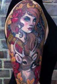 印象派的9款绚丽油画纹身图案