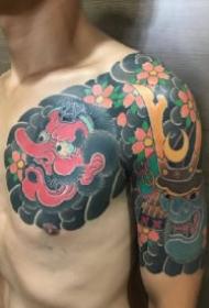 传统的男性9款纹身半甲作品
