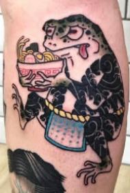 日式可爱的9款青蛙纹身图案