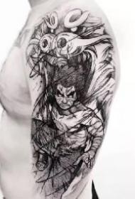 火影主题的一组纹身图案9张