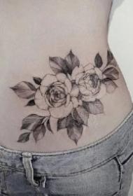 女生腰腹部的8组性感纹身作品图案
