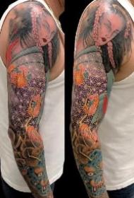 传统花臂纹身 传统的9款炫彩纹身花臂作品赏析