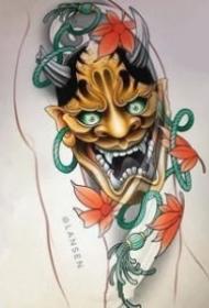 般若刺青 9款般若纹身的手稿素材和纹身作品