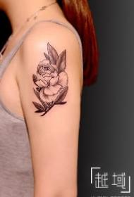 一组女生素花纹身图案 上海纹身越域刺青作品