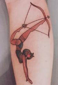 弓箭箭矢纹身 适合射手座的9款箭矢弓箭纹身图案