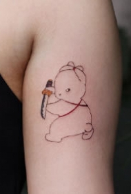 萌兔纹身 萌萌哒的一组小兔子纹身图案作品