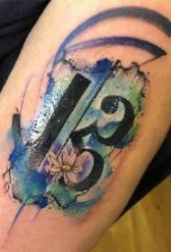 18款女生适合的一组唯美小水彩纹身作品