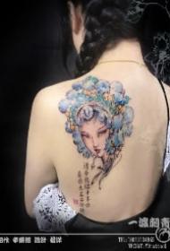 中国风水墨清新小纹身图案 苏州一渡刺青原创设计作品
