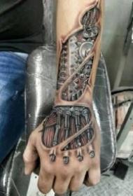一组很个性的创意机械纹身图案