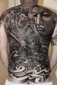 孙悟空纹身 24款大满背的齐天大圣纹身图案作品
