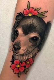 newschool的18款宠物狗纹身作品图案