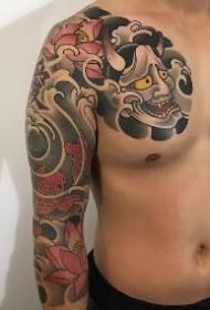 一组9款包臂等位置的般若纹身图案