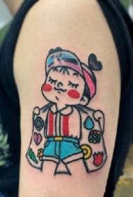 卡通小女生纹身  有趣的9款卡通小女生纹身作品图