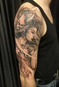 9款艺妓主题的包臂包腿纹身作品