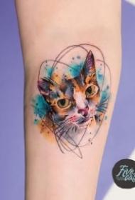 漂亮水彩纹身 小清新的9款小水彩纹身作品图案