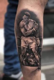 拳击纹身 创意拳击主题的几款纹身图案素材
