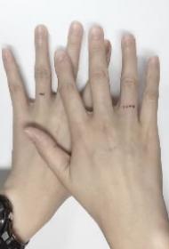 手指小纹身 极简风格的手指头上的小纹身图案