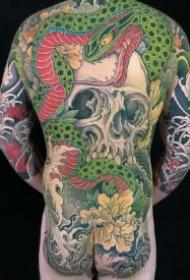 满背大纹身 男士传统的10款大满背纹身作品图案