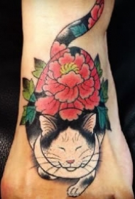 日式刺青大猫的9款猫纹身作品图案