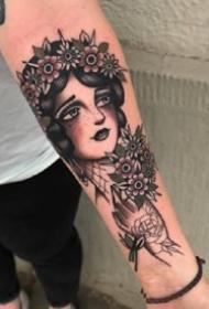 一组欧美女郎纹身图案欣赏