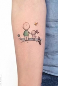 一组小清新超可爱的纹身图案