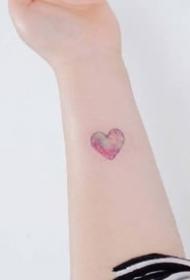 一组小清新超美的爱心纹身