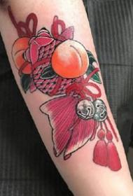 一组日式彩色手臂纹身图案