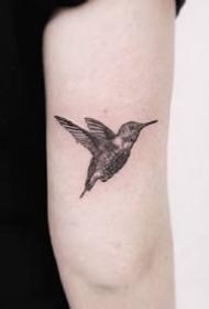 一组小清新黑灰纹身图案