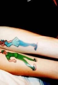 情侣小清新纹身 多款简单线条纹身素描情侣小清新纹身图案
