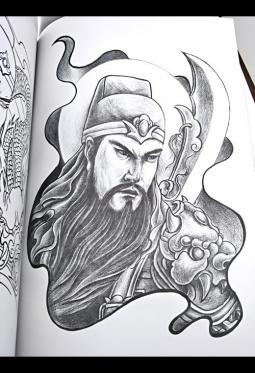 帅气的关公纹身手稿【9张】