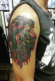 多款创意霸气别致的动物之王狮子纹身图案