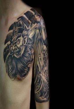 一组关于钟馗的纹身图案精选